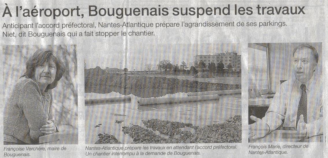 Françoise Verchère, Bouguenais, aéroport Notre-Dame-des-Landes, NDDL