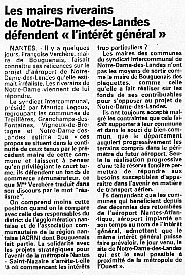 Françoise Verchère, Bouguenais, Notre-Dame-des-Landes, NDDL