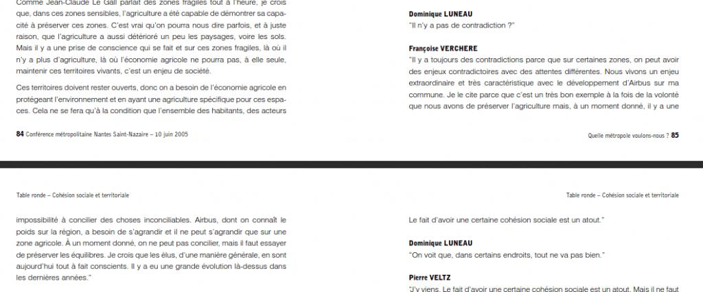 Françoise Verchère contradictions