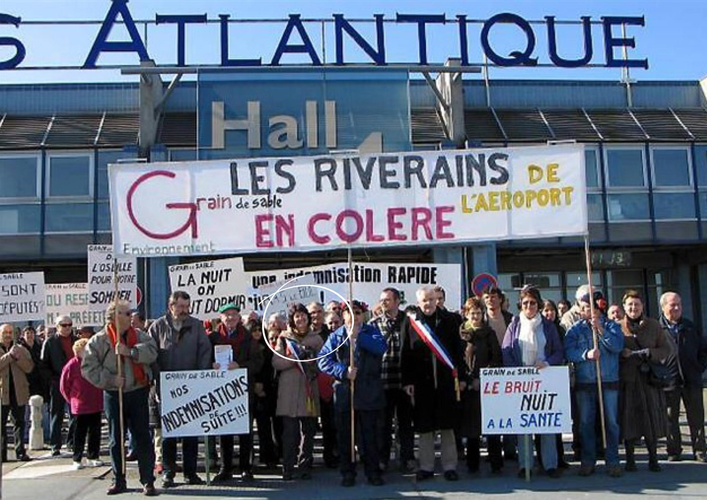 manifestation aéroport Françoise Verchère, Françoise Verchère, Bouguenais, aéroport Notre-Dame-des-Landes, NDDL