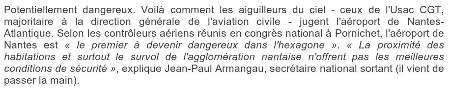 aéroport Nantes-Atlantique dangereux