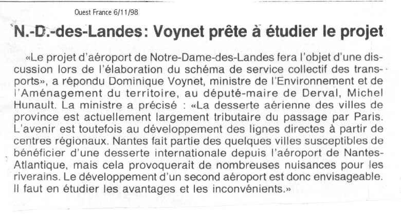 Dominique Voynet Notre Dame des Landes