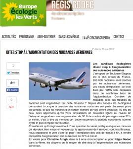 EELV nuisances aériennes